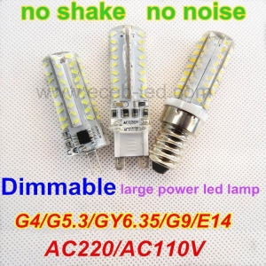 China Dimmable G4/G9/E14/G5.3/GY6.35 high power led bulb AC220V/AC110V no shake no noise on sale