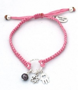 China Jewish Amulets Star of David Pendant on Hand Woven Charms Bracelet on sale
