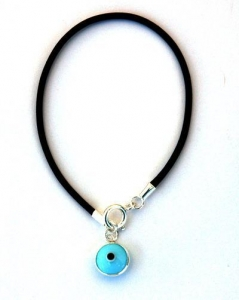 China Evil Eye Amulets Evil Eye Leather Charm Bracelet on sale