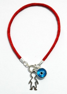 China Baby Amulets Boyish Evil Eye Charm Bracelet on sale