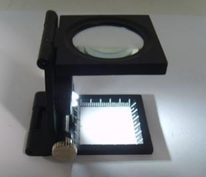 China Three folding 10X Magnifier / Pick Counter with illuminant on sale