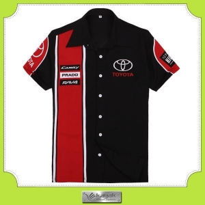 China Custom embroidery pit crew F1 racing shirts for men on sale
