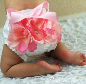 China Blushing Baby Garden Diaper Cover Bloomers - 6007 on sale