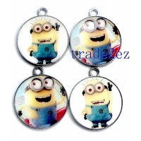China 201662994750Animation Despicable Me Cartoon Metal Round Pendants on sale