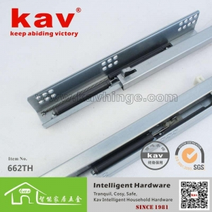 China 662TH two folds similar as blum undermount drawer slides|stainless steel drawer on sale
