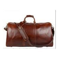 Black Leather Duffle Overnight Gym Luggage Travel Weekend...
