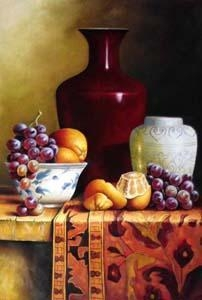 China Realist still life oil painting on sale