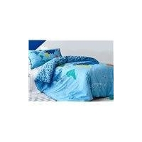 Map of The World Print Kids 2-Piece Duvet Cover Set