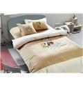 China Blue Cat and Naughty Mouse Print Kids 100% Cotton Duvet Cover Sets on sale
