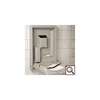 Koala Kare Products KB111-SSWM VERTICAL WALL-MOUNTED STAINLESS BABY CHANGING STATION