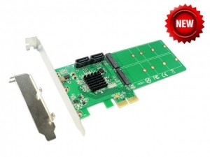 China PCI Express to 2x M.2 NGFF + 2x SATA Hardware RAID card IO-PCE9230-2NS on sale