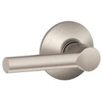 Schlage F10-BRW Satin Nickel Broadway Passage Door Lever Set from the F-Series