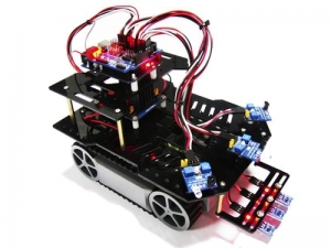 China AS-RP5 Patrol Obstacle Avoidance Mobile Car DIY Robot Kit on sale