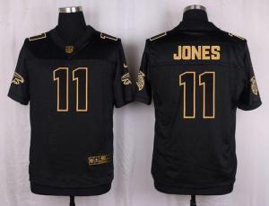 China Nike Falcons #11 Julio Jones Black Men's Stitched NFL Elite Pro Line Gold Collection Jersey on sale