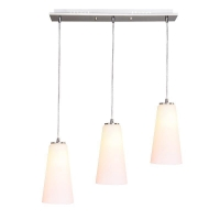China LED Pendant Lamp 3*E27 Dinning Room Stainless Steel+Glass on sale