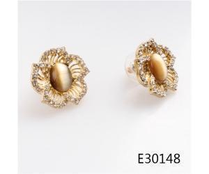 China Stud earrings Stud italian gold 2014 new style flower earrings designs E30148 on sale