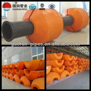 China MDPE Dredge Pipe Floats/ HDPE Floating Pipe For Dredger on sale