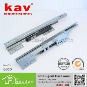 China 660D soft closing sliding undermount drawer slides soft close on sale
