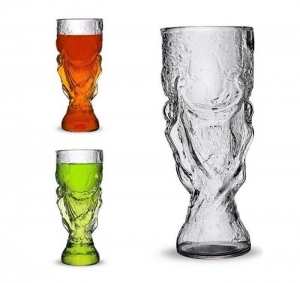China World Cup Shape Beer Glass on sale