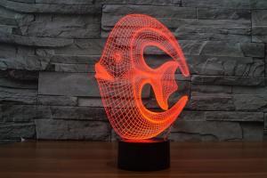 China Ocean Fish Shape 3D Led Lamp on sale