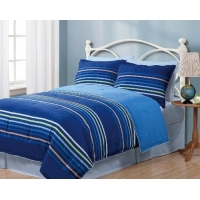 Blue Comforter Twin Geo Stripes Blue Reversible Comforter Bedding Set
