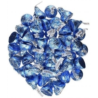 China Blue Candy Hershey's Kisses 2 pounds Bulk Bag Cookies N' Creme Blue Foiled Wrapping on sale