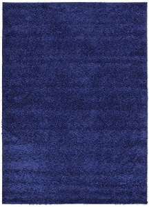 China Shaggy Collection Solid Color Shag Area Rugs (Navy Blue, 5'x7′) (4014) on sale