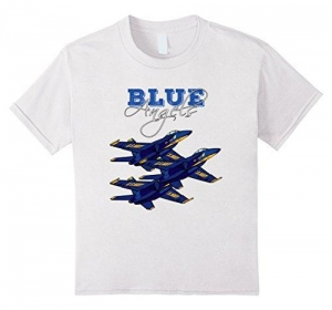 China Kids Blue Angels T-Shirt Navy Kids Women Boys Youth Gifts Plane 4 White on sale
