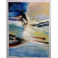 China Sample Paintings Chinese artist ZHAO WUJI abstract acrylic painting on sale