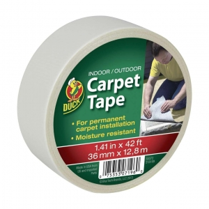 China Duck Brand Indoor/Outdoor Carpet Tape - White, 1.41 in. x 42 ft. on sale