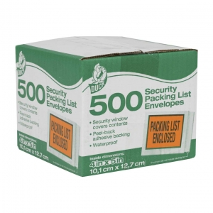China Duck Brand Security Packing List Envelopes - Security Window, 500 pk on sale