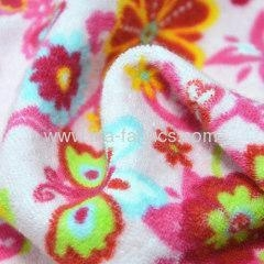 China Printed cotton towelling fabric patterned on sale