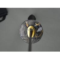 China New Japanese Katana God Tsuba Samurai Sword Guard Alloy Sword Fitting on sale