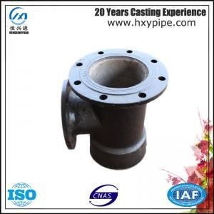 China DI Pipe Fittings Socket Flanged Tee Flanged Branch Bottom Price on sale