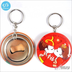 China Products Tin opener or plastic opener fridge magnet bottle opener keychain on sale