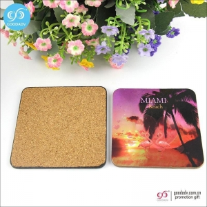 China Products 10*10cm MDF mats custom printed blank beer coasters cork coasters on sale