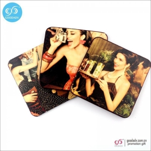 China Products Promotional gift items custom printed beer blank wood coaster with logo on sale