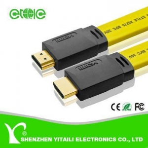 China Super Stable 10 Meters Flat HDMI cable for HDTV Set-Top Box PS3 on sale