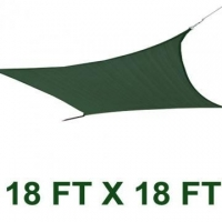 Prime Gardensquare 18*18ft Sun Sail Shade Cover Green