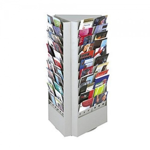 China Steel Rotary Magazine and Brochure Display Racks on sale