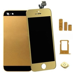 China For IPhone 5 Gold Kit LCD Assembly + Home Buttom + Housing on sale