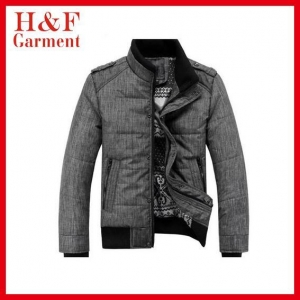 China 2014 stylish men winter quilted jacket with plaid lining ins on sale