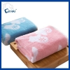 China Pure cotton cut pile yarn-dyed jacquard face towel manufacturer for sale