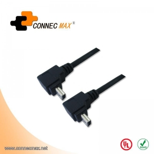 China USB 2.0 Right Angle Mini 5 Pin Cable on sale