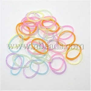 China Closeout DIY Fluorescent Neon Rubber Loom Bands, Mixed Color...(DIY-X0050) on sale