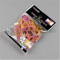 China Closeout Pearlized Rubber Loom Bands Refills, Mixed Color, 1...(X-DIY-R008-M7) on sale