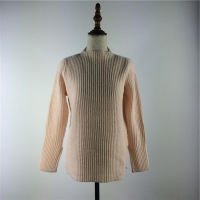 China FLAT KNIT ladies sweater with 80%wool 20%nylon on sale