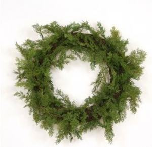 China Accessories Wreath: 30 Artificial Cedar Wreath on sale