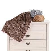 China Babies' Soft Blanket, Made of 100% Polyester Larcher in all-over Leopard Print on sale