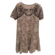 China Women's Short-sleeve Lace Dress with Contrast Embroidery on sale